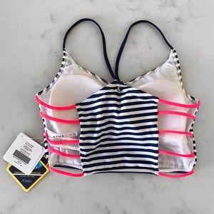 e5a9a94c0016c Fabletics Swim - [Fabletics] Vivian Midi Striped Bikini Top